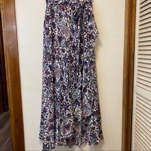 New eShatki Floral Hi/Lo Maxi Skirt